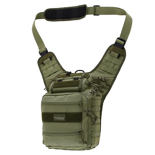 Kiwidition MOA - тактическая сумка через плечо для фотоаппарата Зеленый (OD Green)